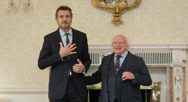 Irish actor Liam Neeson is 'on the fence' over allegations of sexual misconduct against Dustin Hoffman