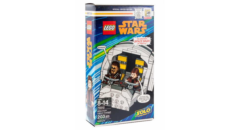 2018 SDCC EXCLUSIVE LEGO STAR WARS MILLENNIUM FALCON COCKPIT Han Solo Chewbacca
