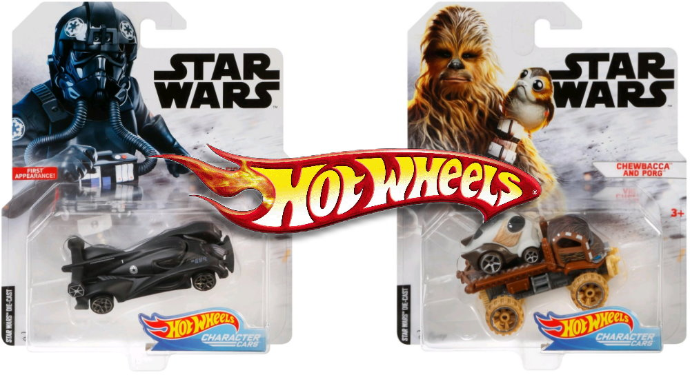Two New Hot Wheels Star Wars Character Cars Fantha Tracks