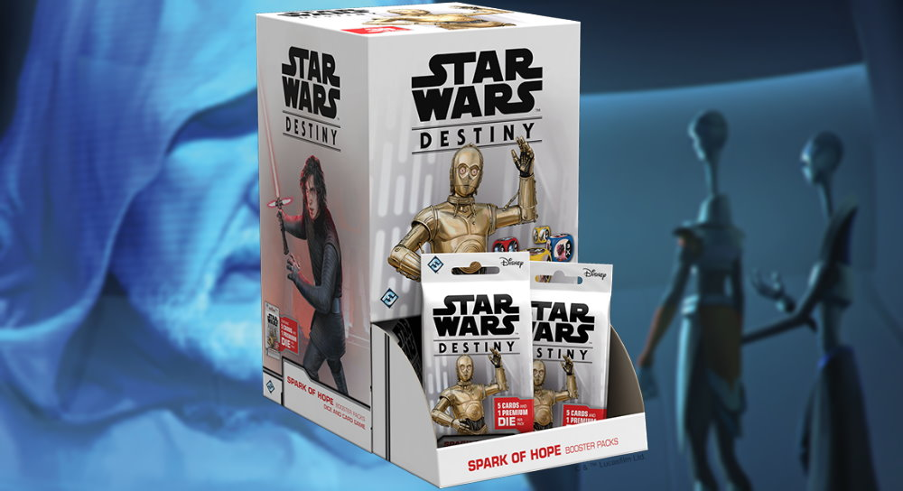 FANTASY FLIGHT GAMES Across The Galaxy Booster Pack Display FFG Star Wars Destiny 36