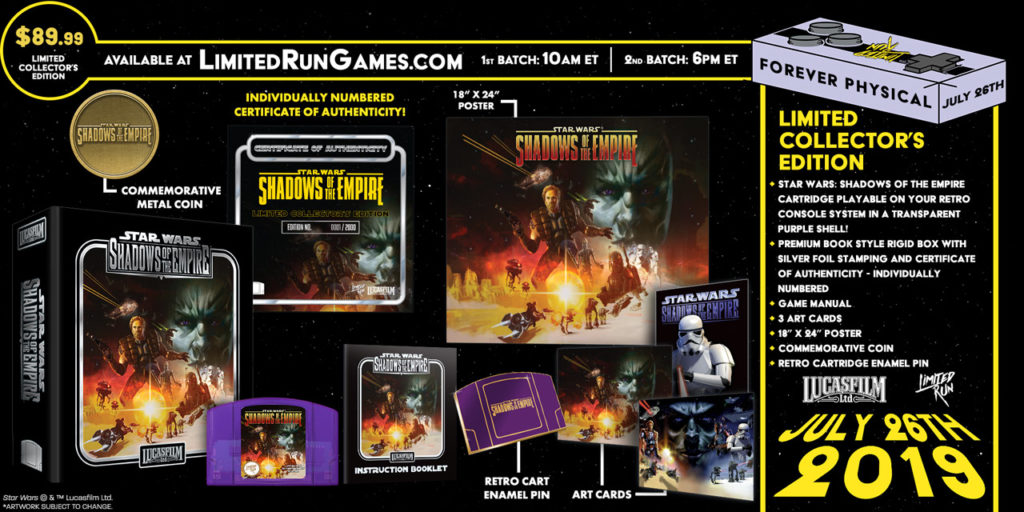 Limited Run Games bring Shadows of the Empire and The Empire