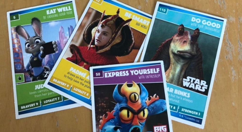BUY 1 GET 3 FREE Individual Sainsburys Disney Heroes Trading Cards