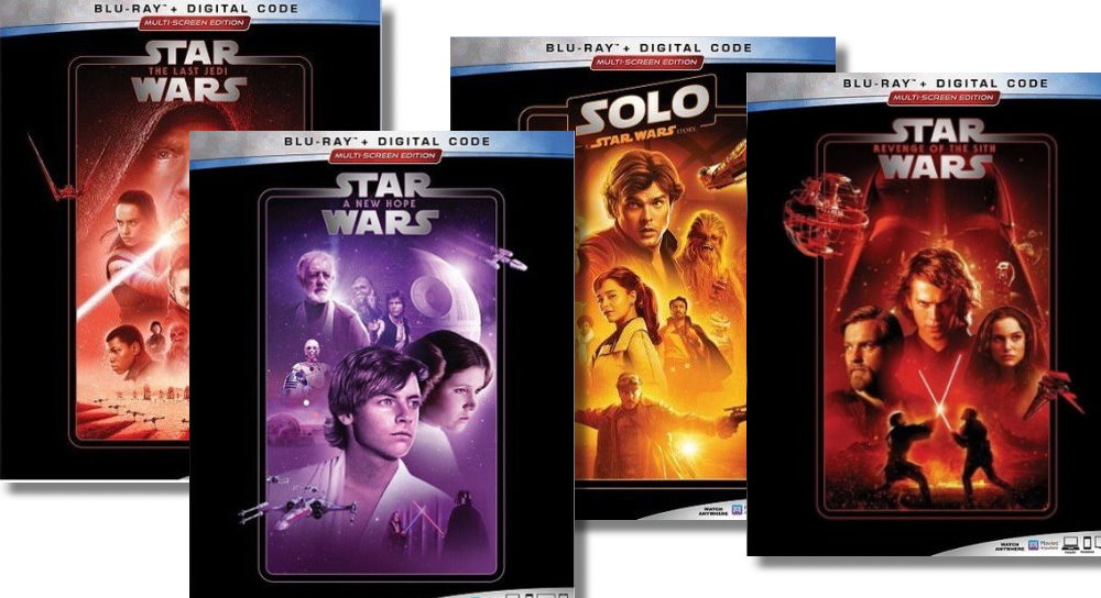 Take a look at the new Star Wars DVD and Blu Ray covers