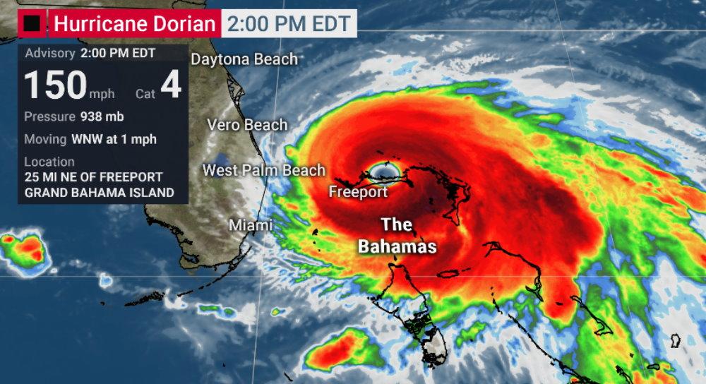 Hurricane Dorian affecting activities today at Disney World