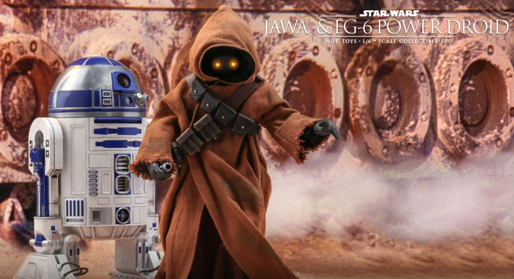 Star Wars Episode Iv A New Hope 1 6th Scale Jawa Eg 6 Power Droid Collectible Set Fantha Tracks