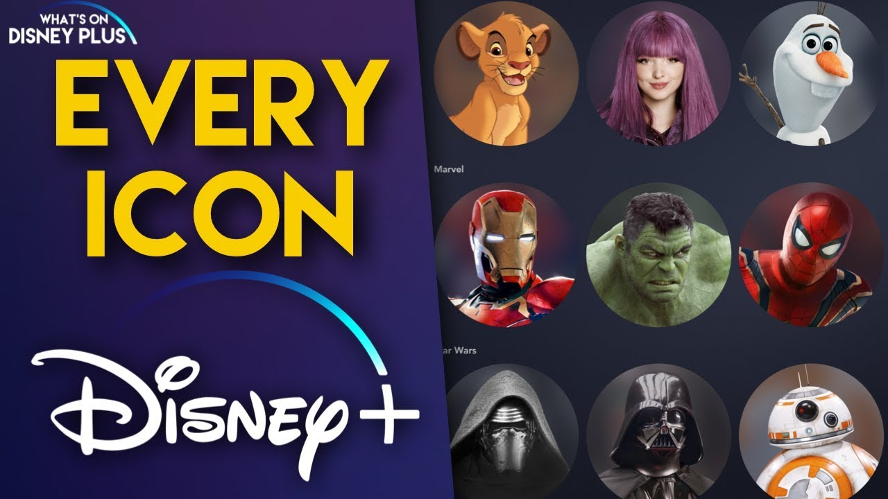 Disney Plus: What icons and avatars will the new streamer ...