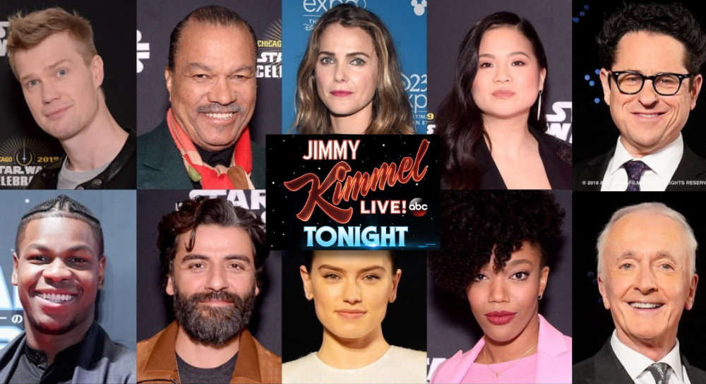 The Cast Of The Rise Of Skywalker On Jimmy Kimmel Live Tonight Fantha Tracks