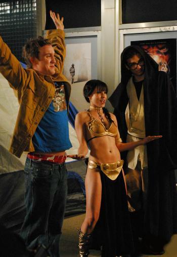 Sam Huntington (Eric), Kristen Bell (Zoe) and Jay Baruchel (Windows) star in Kyle Newman's Fanboys.