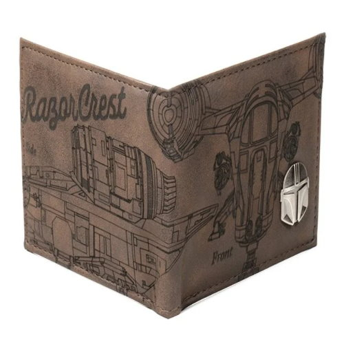 Star Wars Entertainment Earth Exclusive Mandalorian Etched PU Bifold Wallet
